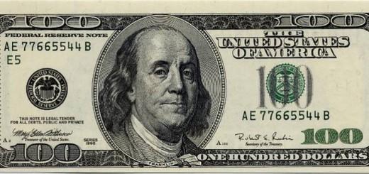 A 100 US dollar bill