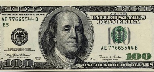 A 100 US dollar bill